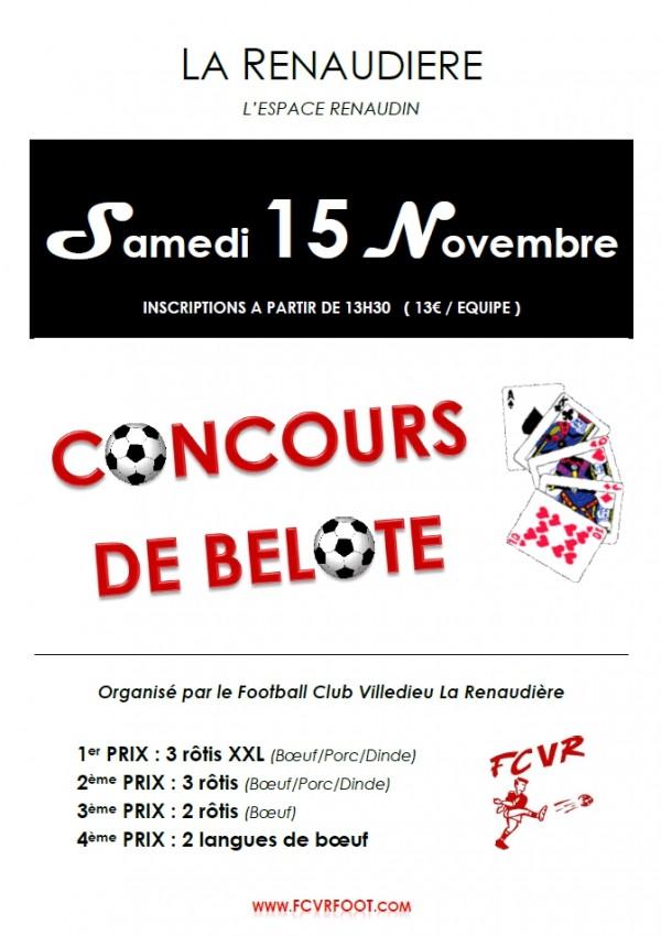 CONCOURS DE BELOTE - FACEBOOK - 15-11-2014