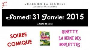 Affiche Facebook - SOIREE COMIQUE 31-01-2014 (Paysage)