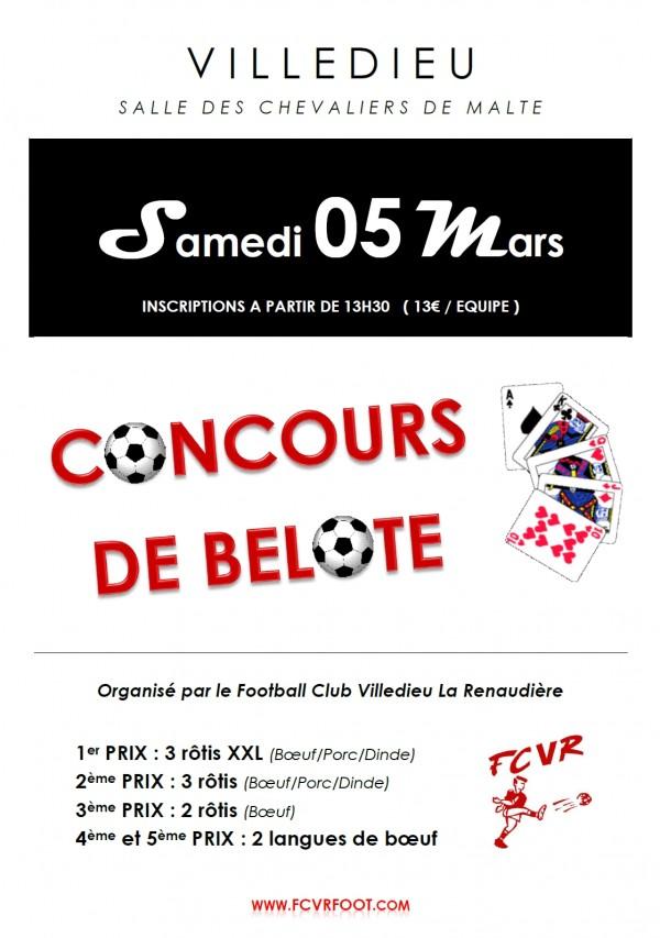 Affiche concours de belote